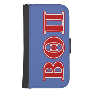 Beta Theta Pi Red Letters Samsung S4 Wallet Case