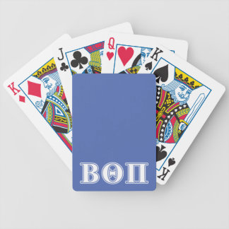 Beta Theta Pi White and Blue Letters Bicycle Playing Cards