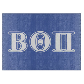 Beta Theta Pi White and Blue Letters Cutting Board