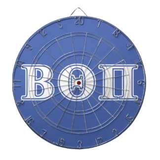 Beta Theta Pi White and Blue Letters Dartboard