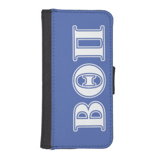 Beta Theta Pi White and Blue Letters iPhone SE/5/5s Wallet Case
