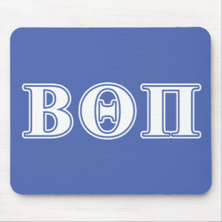 Beta Theta Pi White and Blue Letters Mouse Pad