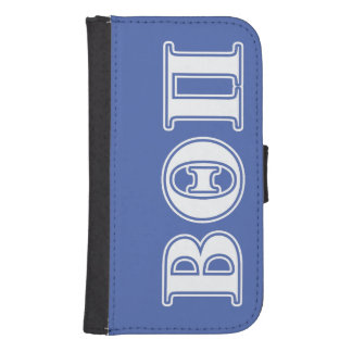 Beta Theta Pi White and Blue Letters Samsung S4 Wallet Case
