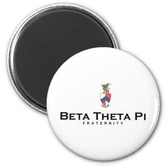 Beta Theta Pi with Crest - Color 6 Cm Round Magnet