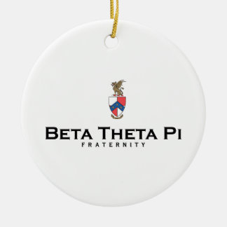 Beta Theta Pi with Crest - Color Christmas Ornament