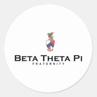 Beta Theta Pi with Crest - Color Round Sticker
