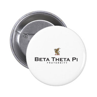 Beta Theta Pi with Dragon - Color 6 Cm Round Badge