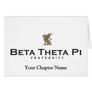 Beta Theta Pi with Dragon - Color Card
