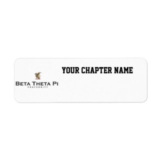 Beta Theta Pi with Dragon - Color Return Address Label