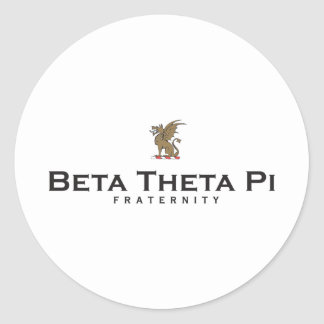 Beta Theta Pi with Dragon - Color Round Sticker