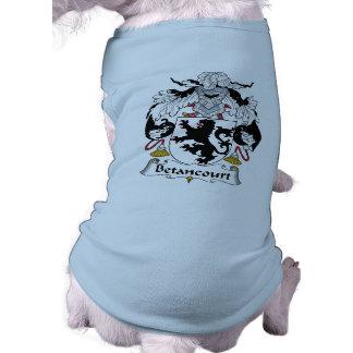 Betancourt Family Crest Sleeveless Dog Shirt