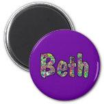 Beth 6 Cm Round Magnet