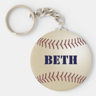 Beth Baseball Keychain by 369MyName