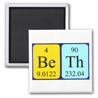 Beth periodic table name magnet