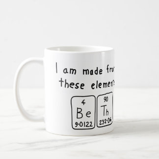Beth periodic table name mug