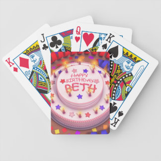 Beth s Birthday Cake Bicycle Card Deck