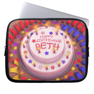 Beth s Birthday Cake Computer Sleeves