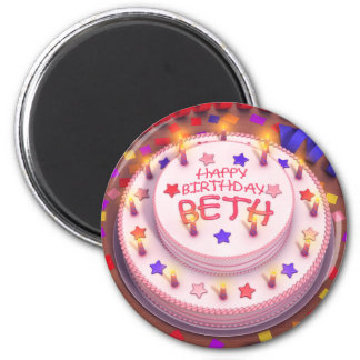 Beth s Birthday Cake Fridge Magnets