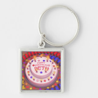 Beth s Birthday Cake Key Chain