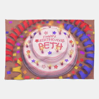 Beth s Birthday Cake Kitchen Towels