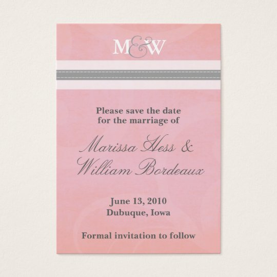 Beth (Small) Save the Date Business Card