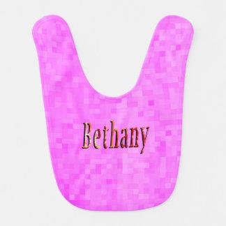 Bethany Girls Name Logo Bib
