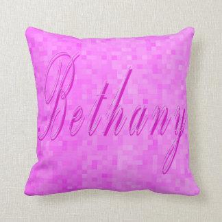 Bethany Girls Name Logo Cushion