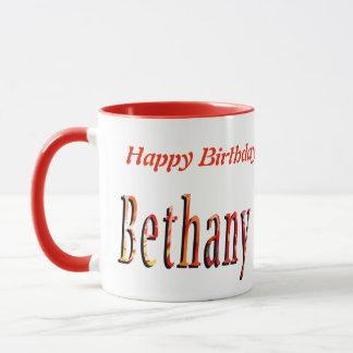 Bethany Girls Name Logo Mug