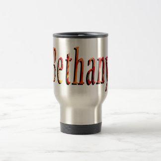Bethany, Name, Logo, Travel Commuter Coffee Mug. Travel Mug