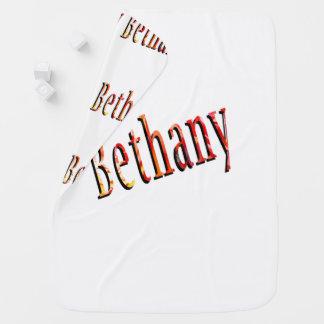 Bethany, Name, Logo, White Snugly Baby Blanket. Baby Blanket