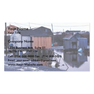 Bethel village flooding business card templates