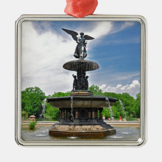 """Bethesda """"Angel of the Waters"""" Central Park, NYC Silver-Colored Square Decoration"""
