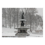 Bethesda Fountain in Central Park Photo Poster