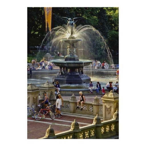 Bethesda Fountain NYC - Poster