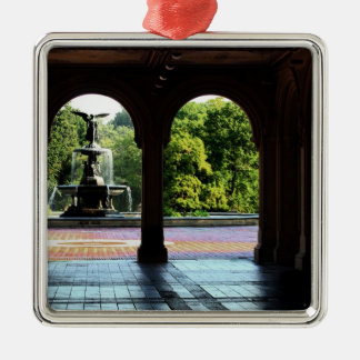 Bethesda Terrace in New York Central Park Photo Christmas Ornament