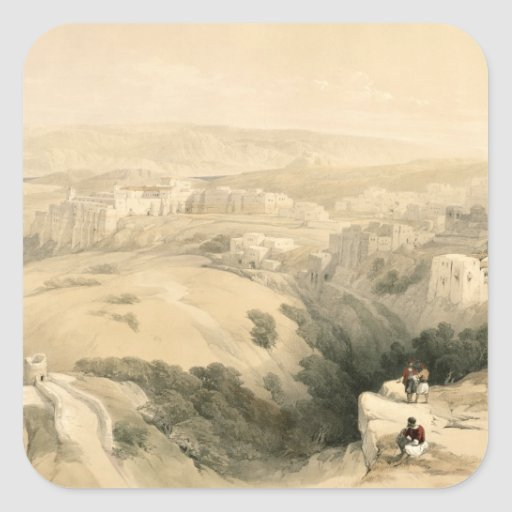 Bethlehem, April 6th 1839, plate 85 from Volume II Square Sticker