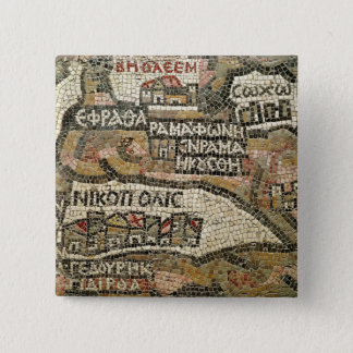 Bethlehem, detail from a map of Jericho 15 Cm Square Badge