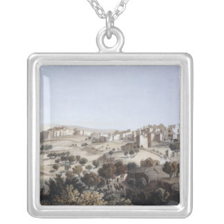 Bethlehem, engraved by Terry Silver Plated Necklace