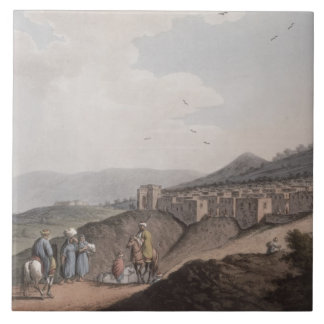 Bethlehem in Palestine, View of the Principal Part Large Square Tile