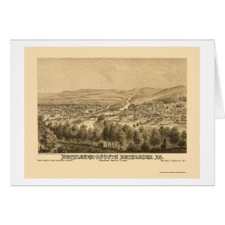 Bethlehem & South Bethlehem, PA Panoramic Map 1877 Card