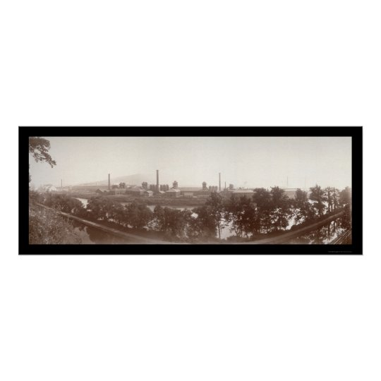 Bethlehem Steel Works Photo 1896 Poster