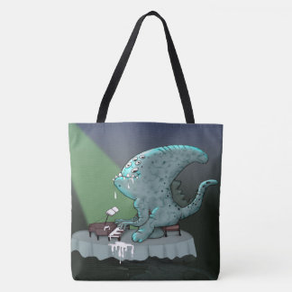 BETHOLIEN ALIEN MONSTER FUNNY TOTE BAG