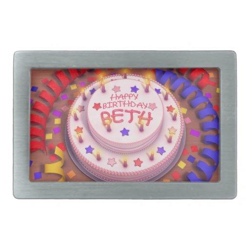 Beth's Birthday Cake Belt Buckle