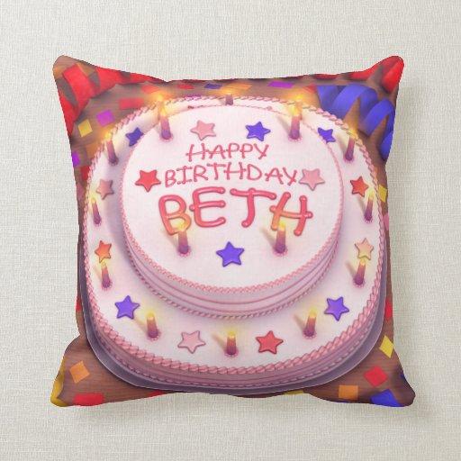 Beth's Birthday Cake Pillow