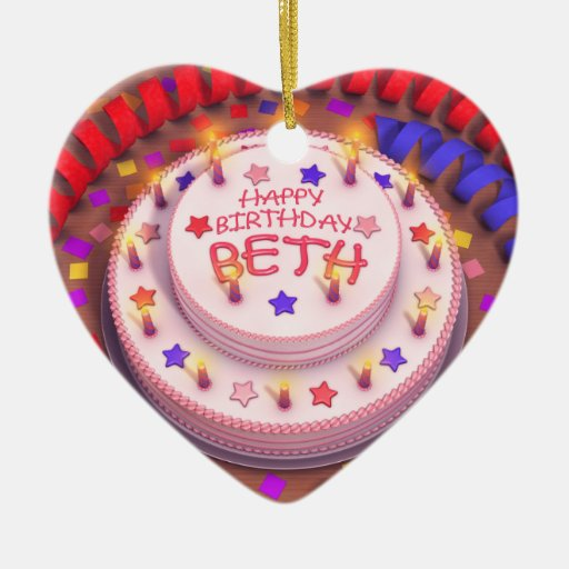 Beth's Birthday Cake Christmas Tree Ornaments