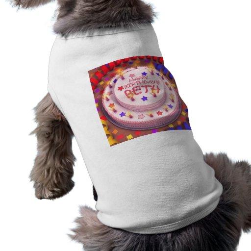 Beth's Birthday Cake Doggie T Shirt