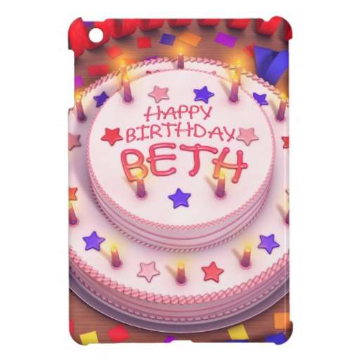 Beth's Birthday Cake Cover For The iPad Mini