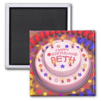 Beth's Birthday Cake Fridge Magnet