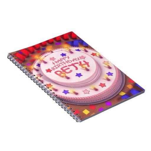 Beth's Birthday Cake Notebook