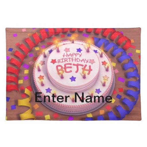 Beth's Birthday Cake Place Mats